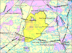 Census Bureau map of Monroe Township, Middlesex County, New Jersey.