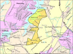 Census Bureau map of Mount Arlington, New Jersey