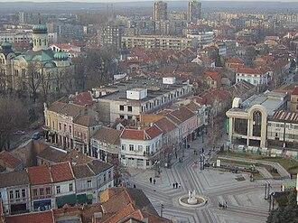 Vidin - The central streets of Vidin