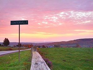 Centerville, New York - Sunrise in Centerville