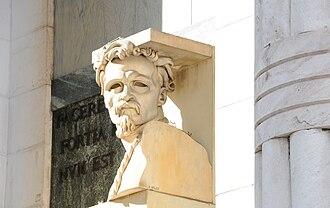 Cesare Battisti (politician) - Bust of Cesare Battisti by Adolfo Wildt at the Bolzano Victory Monument