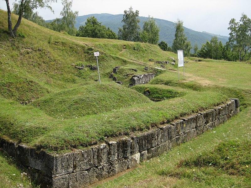 Dakų tvirtovės liekanos