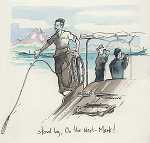 Hydrographic survey - A nostalgic 1985 sketch of hydrographic surveying in Alaska.