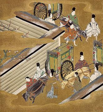 "Tosa school - Illustration of the Genji Monogatari ch.42 – 匂宮 Niō no Miya (""The Perfumed Prince"") Credited to Tosa Mitsuoki (1617–1691)."