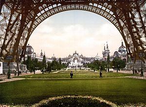 Paris Exposition, 1900 (film series) - The Champ-de-Mars, with the Eiffel Tower in the foreground
