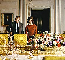 Jackie Kennedy Giving White House Tour