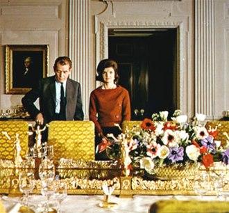 A Tour of the White House with Mrs. John F. Kennedy - Collingwood and Kennedy during their tour