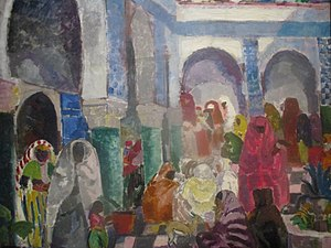 Charles Dufresne - Patio in Algiers