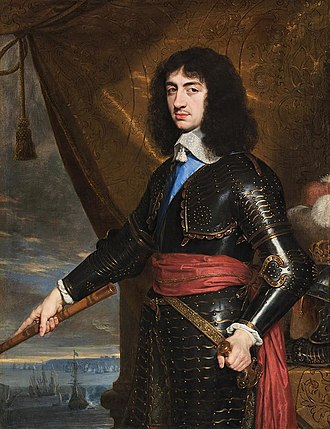 Battle of Worcester - Charles II of England, circa 1653.