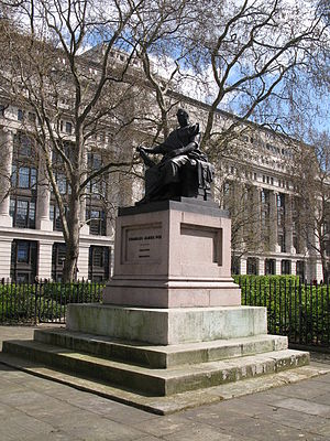 Bloomsbury Square - Charles James Fox Statue, Bloomsbury Square