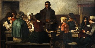 Social realism - Charles de Groux, The blessing 1860.