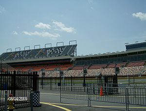 English: The grandstands of Charlotte Motor Sp...