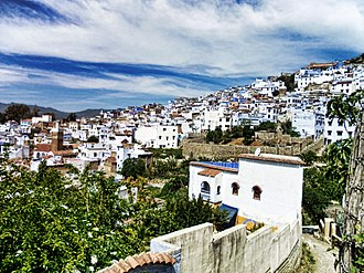 Chefchaouen - Image: Chefchaouen from above