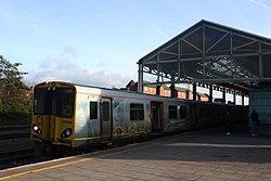 Chester - Merseyrail 507024 Birkenhead service.JPG