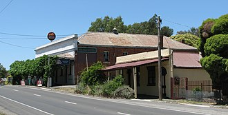 Chewton, Victoria - View towards Red Hill Hotel