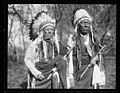 Chief Bearman, left, and Chief Mad Bull, members of the Cheyenne Tribe, calling on Pres. LCCN2016893117.jpg