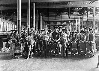 Newberry, South Carolina - A few of the doffers and sweepers in the Mollohan Mills. December 1908. Photographed by Lewis Hine.