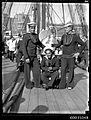Chilean sailors posing on the deck of GENERAL BAQUEDANO, July 1931 (7004287094).jpg