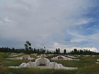 Doi Saket District - Chinese Cemetery in the Thai highlands near Doi Saket