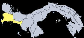 Mapa de Chiriquí
