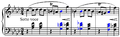Chopin - Mazurka in F minor, op. 68, no. 4, m. 1-4, dominant sevenths.png