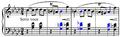 Chopin - Mazurka in F minor, op. 68, no. 4, m. 1-4, dominant sevenths.png