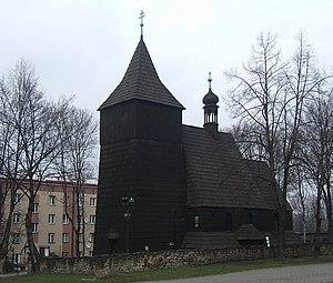 Knurów - St. Lawrence's Church (16th century). Originally in Knurów, in 1935 the wooden church was moved to Chorzów