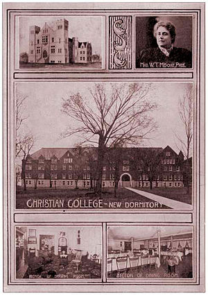 Columbia College (Missouri) - Photo of Columbia College (then Christian College), 1904