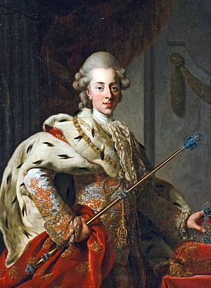 1772 in art - Image: Christian VII 1772 by Roslin