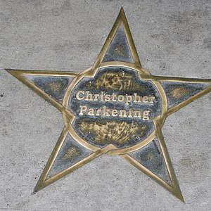 Christopher Parkening - Star in honor of Parkening, on the sidewalk outside the Ellen Theater in Bozeman, Montana