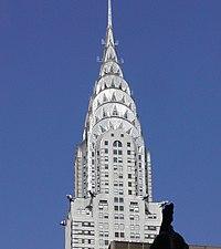"""Здания в стиле Ар-деко Небоскреб компании  """"Крайслер """" в Нью-Йорке."""