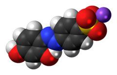 Space-filling model of chrysoine resorcinol as a sodium salt