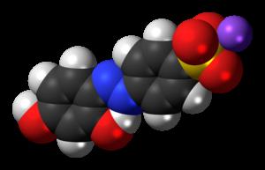 Chrysoine resorcinol - Image: Chrysoine resorcinol sodium 3D spacefill