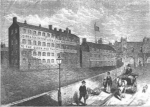 Chubb detector lock - The Chubb works in Railway Street, Wolverhampton (1870)