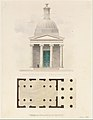 Church of the French Protestants (Eglise Français du Saint Esprit), New York (front elevation and plan) MET DT997.jpg