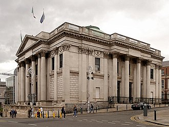 City Hall, Dublin - Dublin City Hall, as viewed from Lord Edward Street