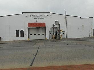 Long Beach Bus - The bus garage on Long Beach Boulevard and East Pine Street.