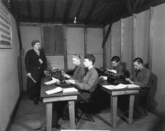 Typing - Civilian Conservation Corps typing class, 1933