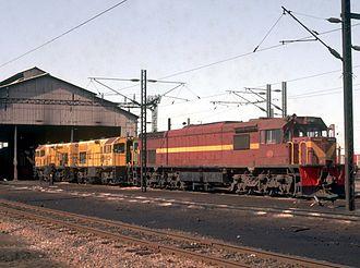 Dabuka - SAR and NRZ locomotives at Dabuka MPD