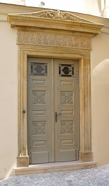 File:Classicism door in Olomouc.jpg
