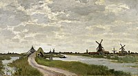 Claude Monet - Windmills Near Zaandam - Walters 37894.jpg