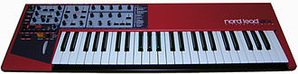 Digital synthesizer - The Clavia Nord Lead is a popular virtual analog synth