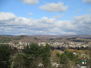 Clearfield, Pennsylvania - Clearfield, Pennsylvania, looking west