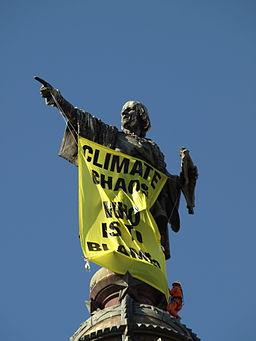 Climate campaign in Barcelona