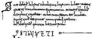 Codex Vigilanus - The first Arabic numerals in the West.