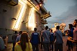 College Basketball Teams Tour USS Stennis during Pearl Harbor 75th Commemoration 161204-N-DA737-028.jpg