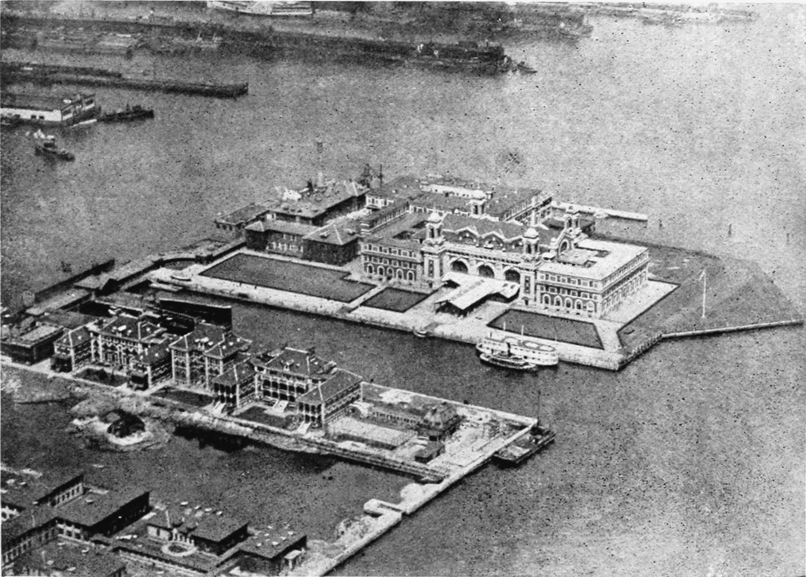 Bird's Eye View of Ellis Island in 1905