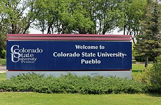 Colorado State University–Pueblo - The University's welcome sign.