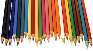 English: An array of colored pencils, these pe...