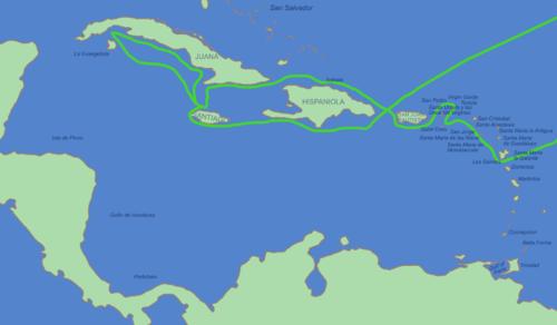 amerika felfedezése térkép Kolumbusz Kristóf – Wikipédia amerika felfedezése térkép